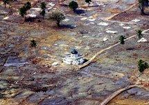 Mosque standing after the 2004 tsunami (photo: AP)