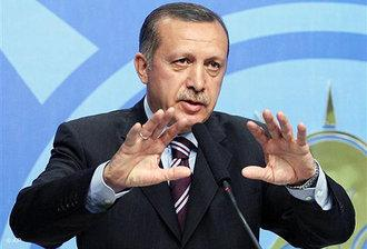 Turkish Prime Minister Recep Tayyip Erdoğan holding a speech at AKP headquarters (photo: AP)