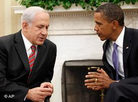 Obama and Netanyahu in Washington during the Middle East peace negotiations of 2010 (photo: AP)
