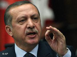 Türkischer Ministerpräsident Erdogan; Foto: AP