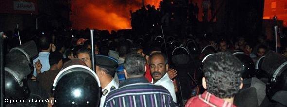Riots in Egypt (photo: picture-alliance/dpa)