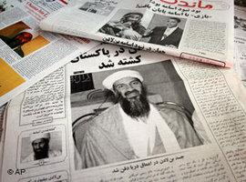 Afghan Newspapers covering the death of Bin Laden (photo: AP)