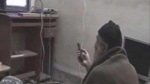 Osama Bin Laden on a video tape found by the US (photo: AP)