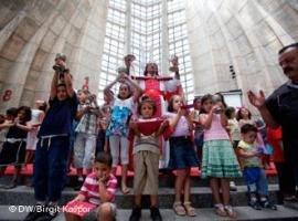 Notre Dame de Harissa Church in Jounieh, Libanon (photo: Birgit Kaspar/DW)