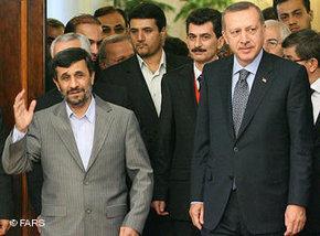 Erdogan and Ahmadinejad in Tehran (photo: FARS)
