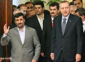 Erdogan and Ahmadinejad in Tehran (photo: FARS)