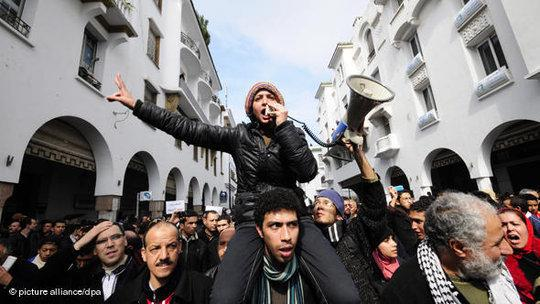 Protests in Rabat (photo: dpa)