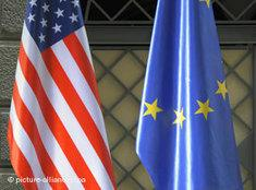 US and European flag (photo: picture-alliance/dpa)