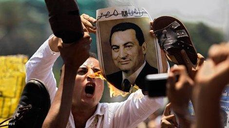 A demonstrator protesting in Tahrir Square in Cairo (photo: dapd)