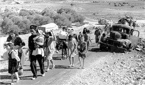 Palestinian refugees in 1948 (photo source: Wikipedia)