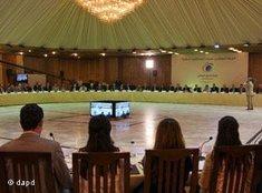 Teilnehmer am Nationalen Dialog in Syrien; Foto: dapd
