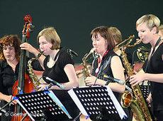 Members of the German Women Jazz Orchestra on stage (photo: Goethe Institute)
