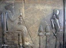 Relief showing King Darius (photo: DW/Uta Thofern)