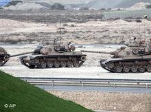 Tanks in Manama (photo: AP)