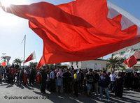 People protesting in Manama (photo: dpa)