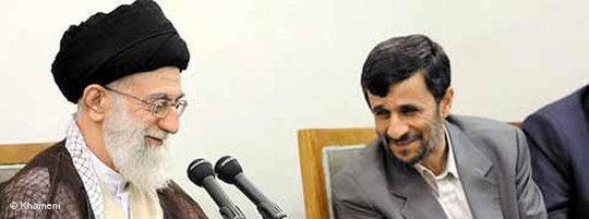 President Ahmadinejad and Ayatollah Ali Khamenei (photo: www.khameni.ir)