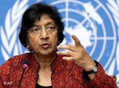 Kommissarin der Vereinten Nationen für Menschenrechte, Navi Pillay; Foto: AP
