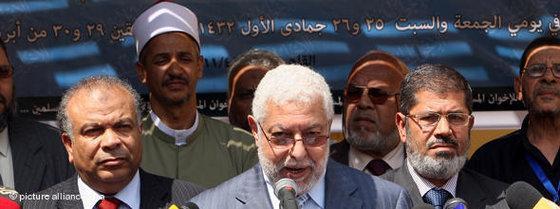 Muslim Brotherhood meeting in Cairo (photo: picture-alliance/dpa)