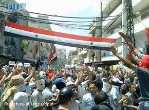 Protests in Syria (photo: picture-alliance/dpa)
