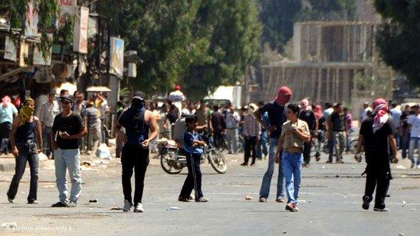 Protests in Syria (photo: dpa)