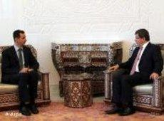 Assad and Davutoglu (photo: dapd)
