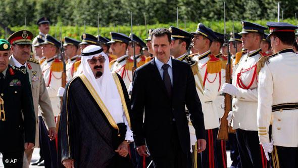 King Abdullah and Bashar al-Assad (photo: AP)