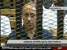 Image taken from the televised trial of the former Egyptian minister of the interior, Habib Al-Adly (photo: dapd)