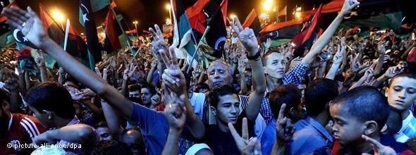 Boundless joy and celebrations in Benghazi (photo: photo alliance/dpa)