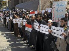Salafists in Egypt demonstrating against Coptic Christians (photo: AP)