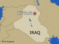 Map of Iraq showing the location of the city of Kirkuk (photo: AP)