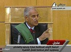 Judge Ahmed Refaat during the trial against Mubarak (photo: dapd)