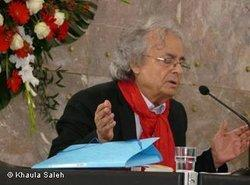 Adnonis in Frankfurt during the Goethe Medal awarding ceremony (photo: Khaula Saleh)