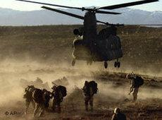 US military units during the Operation Anaconda in Afghanistan (photo: AP