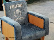 An empty seat marked Palestine at UN headquarters in New York (photo: EPA)