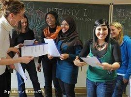 Integration class in Leipzig, Germany (photo: picture-alliance/ZB)