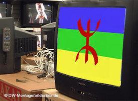 Amazigh symbol on a TV screen (photo: DW)