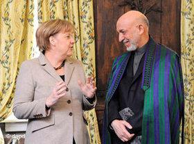Karzai and Merkel