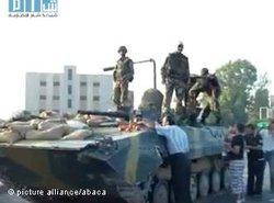 Syrische panzer in Hama; Foto: picture alliance