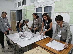 At the ballot box in Tunisia (photo: AP/dapd)