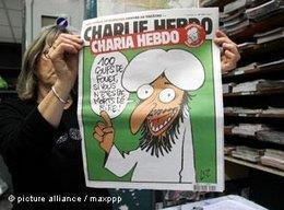 Sonderausgabe der Charlie Hebdo: Charia Hebdo; Foto: picture-alliance