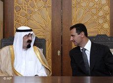 King Abdullah of Saudi Arabia and Syrian President Bashar al-Assad (photo: AP)