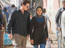 Golshifteh Farahani with Leonardo DiCaprio in the film