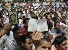 A Muslim Brotherhood demonstration in Cairo (photo: AP)