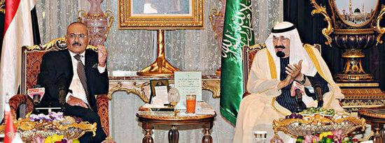 Yemen's President Ali Abdullah Saleh and Saudi Arabia's King Abdullah (photo: dpa)