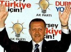 Recep Tayyip Erdogan after an election victory of his party, the AKP (photo: dpa)