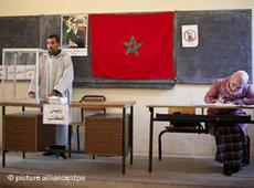 Polling station in the Moroccan capital Rabat (photo: picture alliance/dpa)