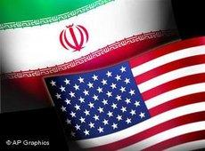 Montage of the US and Iranian flags (image: AP Graphics)