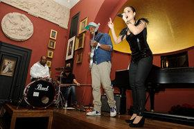 Master Mimz and her band performing at the Nour Festival in London (photo: Mike Massaro)