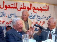 George Ishaq (left) during a press conference in Cairo (photo: AP)