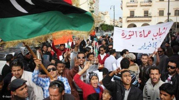 People demonstrating in Benghazi (photo: dapd)